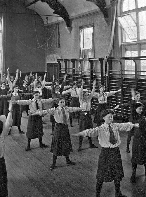 Gym in use 1935