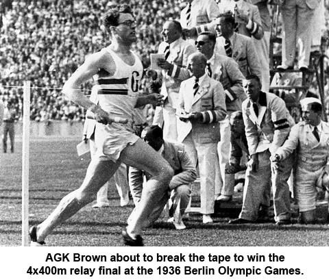 AGK Brown - 1936 Olympics