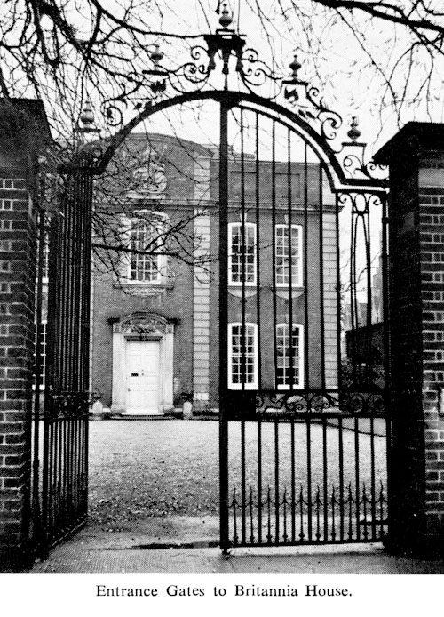 Entrance Gates to Britannia House
