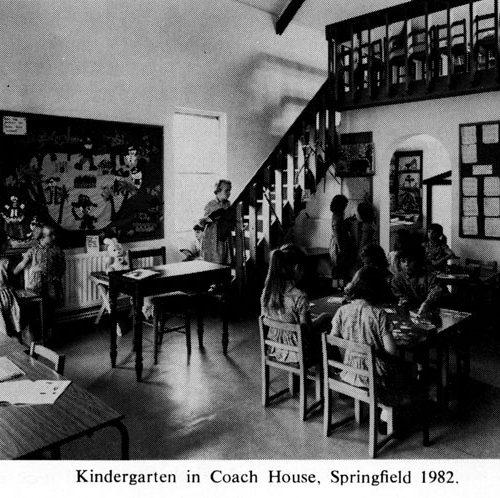 Kindergarten in Coach House, Springfield 1982