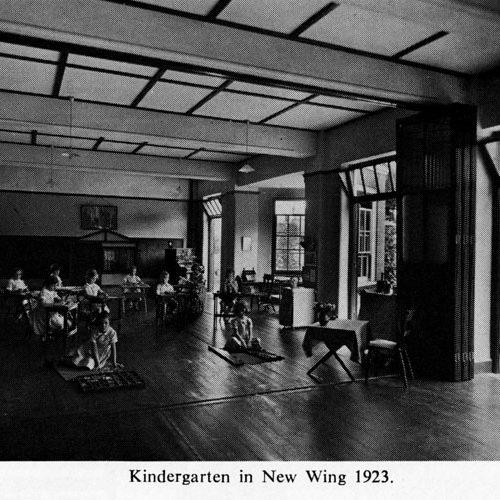Kindergarten in New Wing 1923