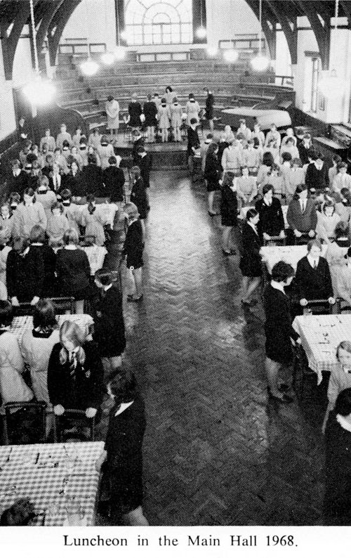Lunch in the Main Hall 1968