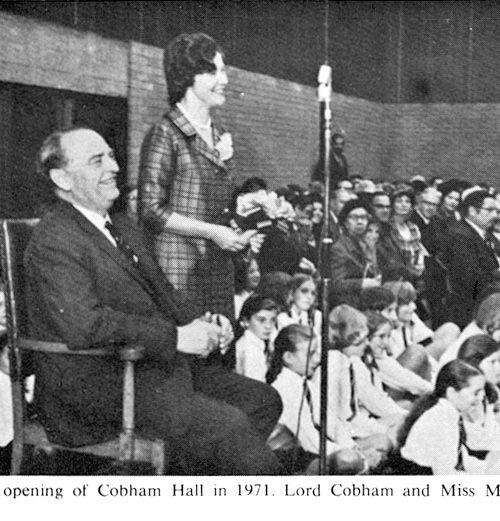 Opening of Cobham Hall 1971