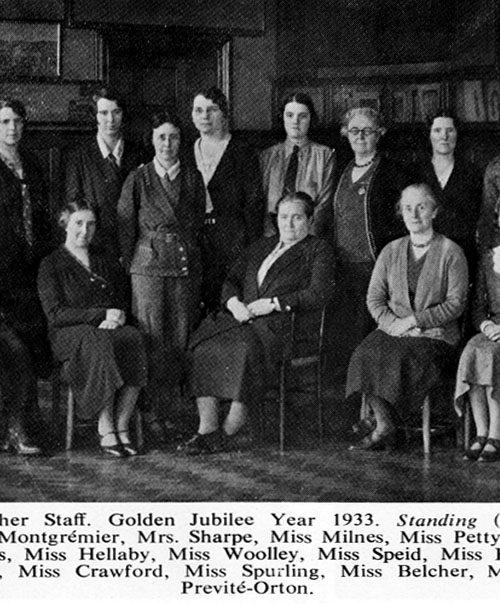Staff Golden Jubilee 1933